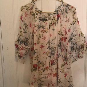 Tops - Bellambra floral silk blouse S